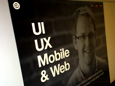 About Screen about website web responsive clean minimal portfolio