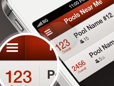 PB ListView Detail icons sports ios iphone app listview detail clean