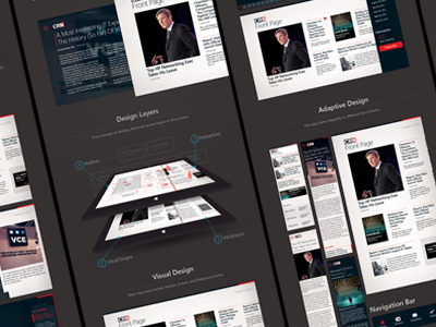 CRN Tech News for Windows 8 layout windows 8 tablet adaptive news app wireframes redlines case study