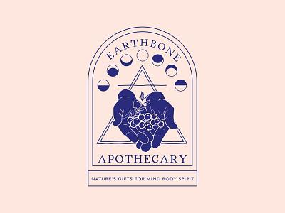 Earthbone Apothecary Logo Variations logo for sale brand design edgy logo branding design brand identity illustration design typography logo design witchy witchy logo