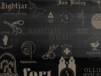 2019 Year in Review brand design edgy logo illustration design blackletter typography logo design branding design year in review