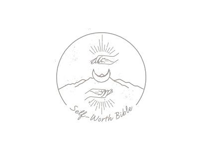 Self-Worth Bible witchy illustration art illustration design edgy logo logo design branding design
