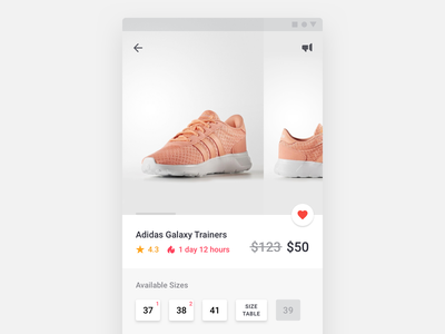 Product Card e-commerce material material design app ui ux android