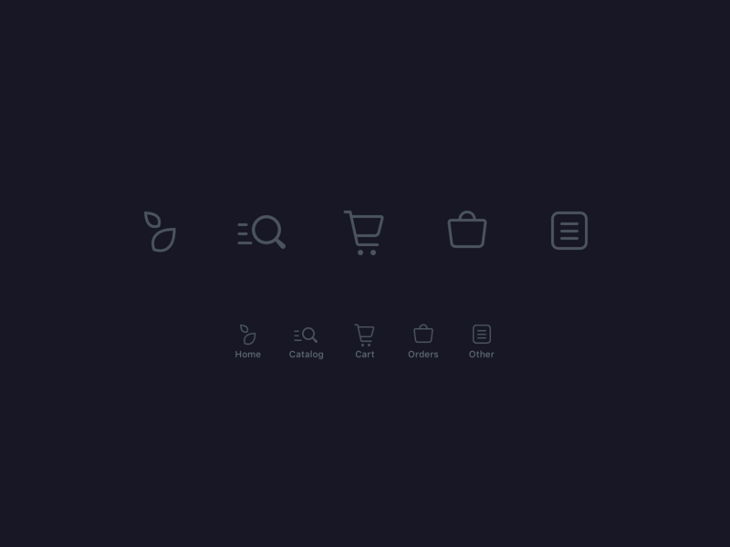 Icons for tabbar