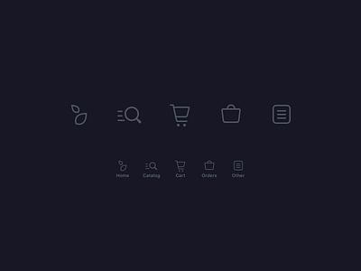 Icons for tabbar e-commerce dark bottom navigation tabbar icons ios