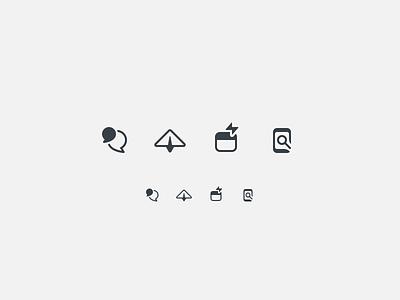 Icons iconography dark app design icons