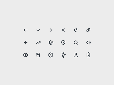 Preply Icons icons study tutors lesson lessons school web glyphs design gray arrows back trashcan trash profile search location link trending