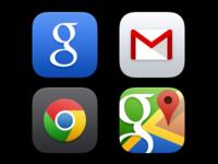 Google iOS 7 app icons (PSD)
