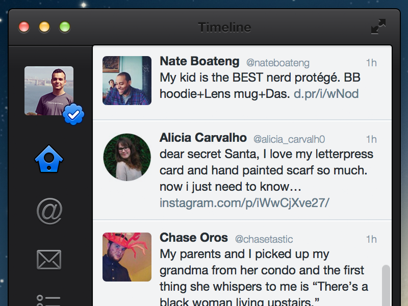 Twitter for Mac redesign mac os x redesign twitter
