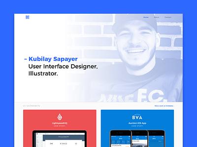 Kubilay Sapayer 2017 Portfolio illustrator icon ux ui 2017 new portfolio