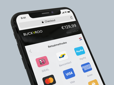 Buckaroo Fast Checkout Redesign payment app webapp ios buckaroo payment method checkout page checkout