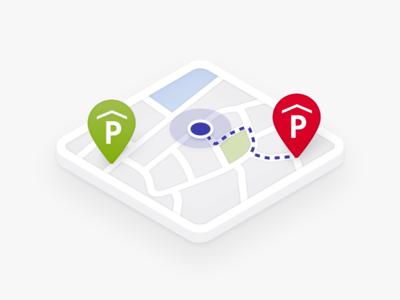Parking Illustration car navigate parking illustration art