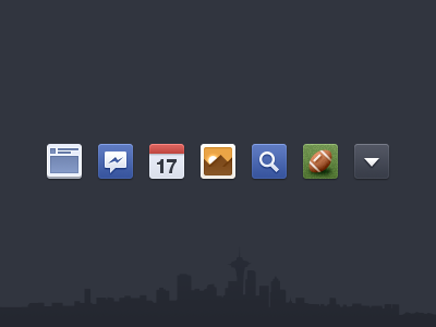 Facebook Newsfeed icons - Free PSD facebook icons psd