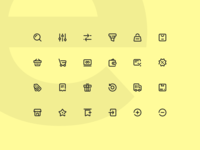 24 E-commerce Icons