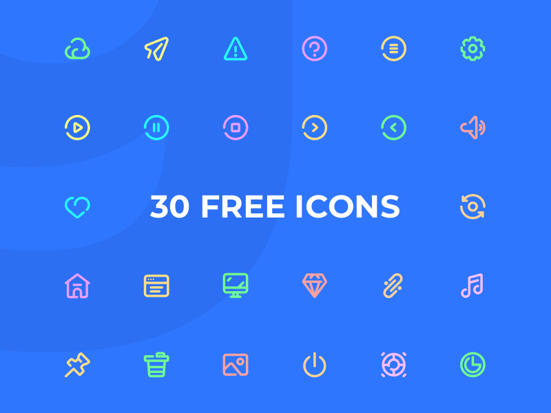 Freebies: 30 General Icons freebies free ui8 iconset icon