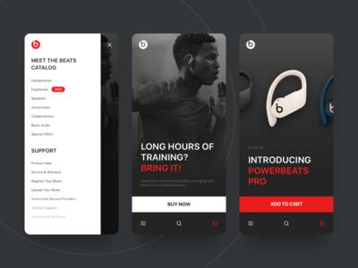 New Beats. Shop concept.
