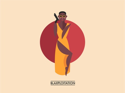 Blaxploitation flat icon funk blaxploitation seventies afro black woman