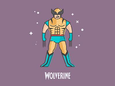 Flat Wolverine vector flat design comic wolverine x-men