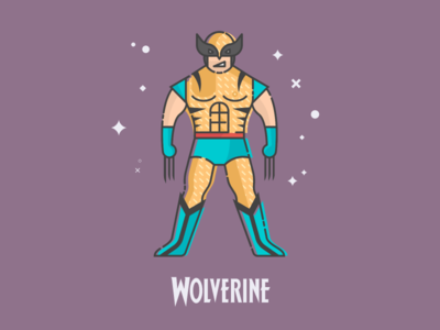 Flat Wolverine vector flat design comic wolverine x-men