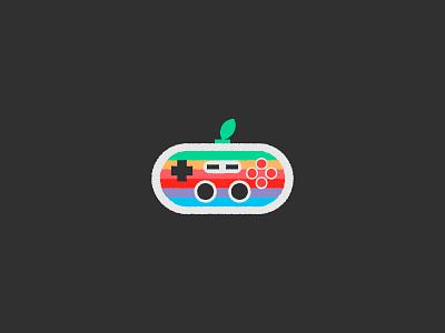 Apple Pad vector usb videogames color spectrum apple nintendo pad
