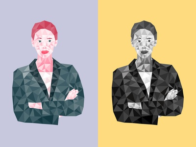 Polygonal Business Woman triangle vector business polygonal woman