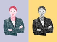 Polygonal Business Woman