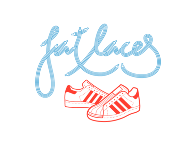 I want my fat laces vector lettering old school vintage street fat laces hip hop rap sneakers adidas