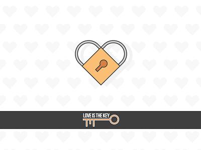 Happy Valentine's Day! flat icon vector couple love padlock heart february 14th saint valentines day
