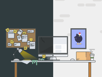 Roosterbox.co - Landing Page Artwork