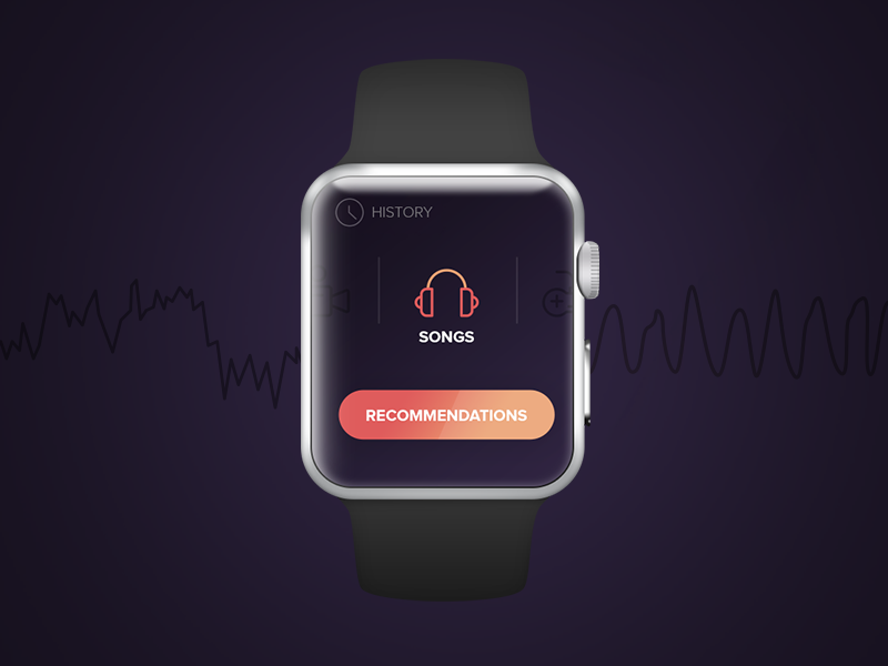 Vitaly - Apple watch concept songs recommendation apple watch vitaly