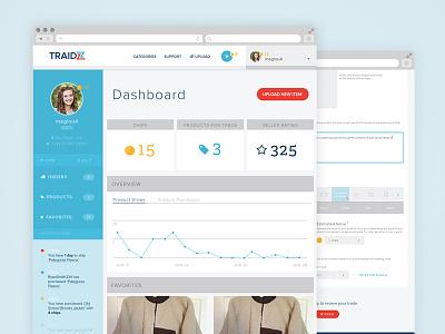 Traidz upload trade barter dashboard