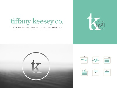 Tiffany Keesey Consulting logo mark tk hr consulting human resources branding