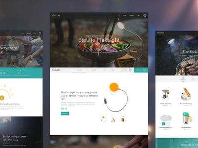Biolite biolite website ui product shopify
