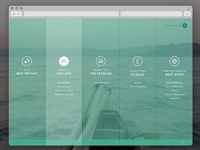 Into The Rift menu website navigation nav