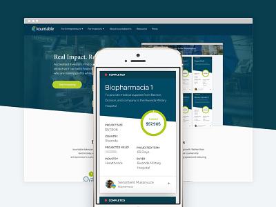 kountable Marketplace kountable investors marketing ux ui card design