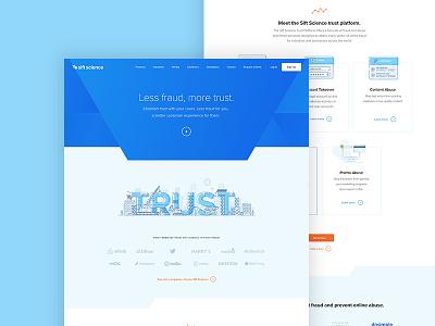 Sift Science Homepage homepage fraud blue sift trust