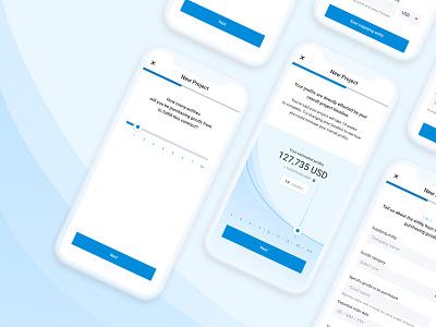 Project Submission Flow mobile app app progress mobile submission finance kountable