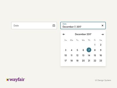 Date Selector user interface ui kit form field date selector simple picker date web ui wayfair interface form