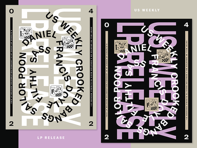 Posters for LP Release Show typography graphic design poster flier music