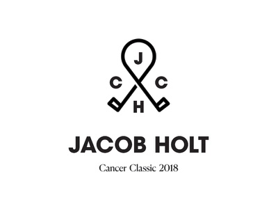 Logo for a Golf Fundraiser logomark black and white minimal typography logo