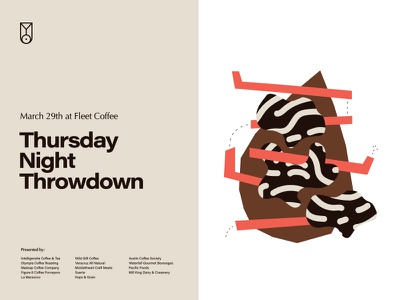 Barista Tournament Flier for Fleet Coffee typography layout graphic design flier poster