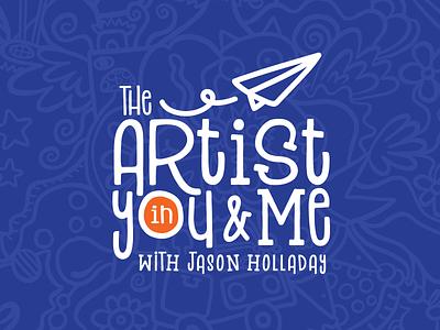 The Artist in You & Me logo design designer artwork branding vector logo drawing design art