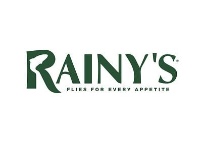 Rainy's Fly Fishing Logo designer vector design branding brand identity logo design logo