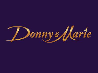 Donny & Marie Logo vegas vegas show icon brand identity logo design vector logo