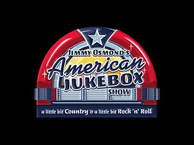 Jimmy Osmond's American Jukebox Logo illustration brand design designer design branding brand identity vector logo design branding logo designer logos logo design logo
