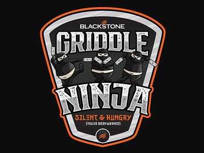 Griddle Ninja Shirt Designs tee design tee shirt tee shirt design badge vector design illustration