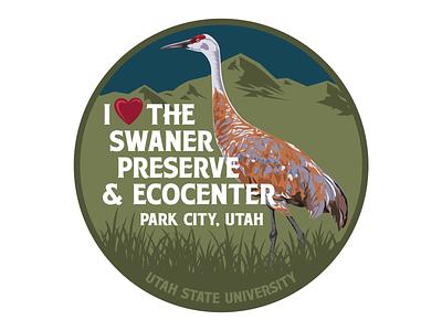 Swaner Preserve & Ecocenter brand design branding logos illustration brand identity vector logo design usu utah state bird badges badge logo park city