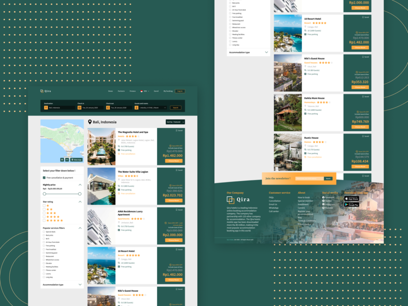 Qira Hotel Web Design - Part 2 search results search result searching search booking hotel web hotel hotel web hotel website hotel booking hotel app hotel website design webdesign uiux design web ux ui