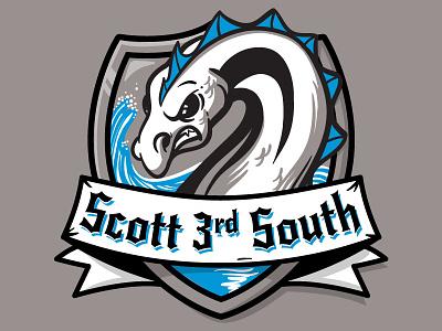 Loch Ness Sports Team Logo sports logo nessie logo illustration cryptozoology
