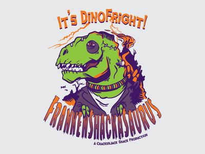 FrankenShackASaurus Halloween Tee Design